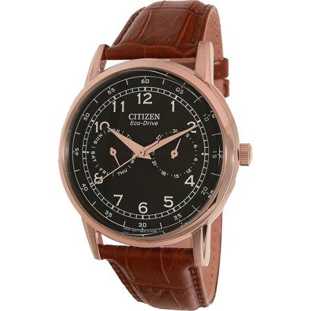 Citizen Men's AO9003-08E Brown Leather Quartz Dress Watch