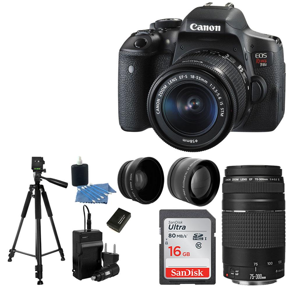 Canon EOS Rebel T6i DSLR Camera + EF-S 18-55mm IS STM Lens Bundle