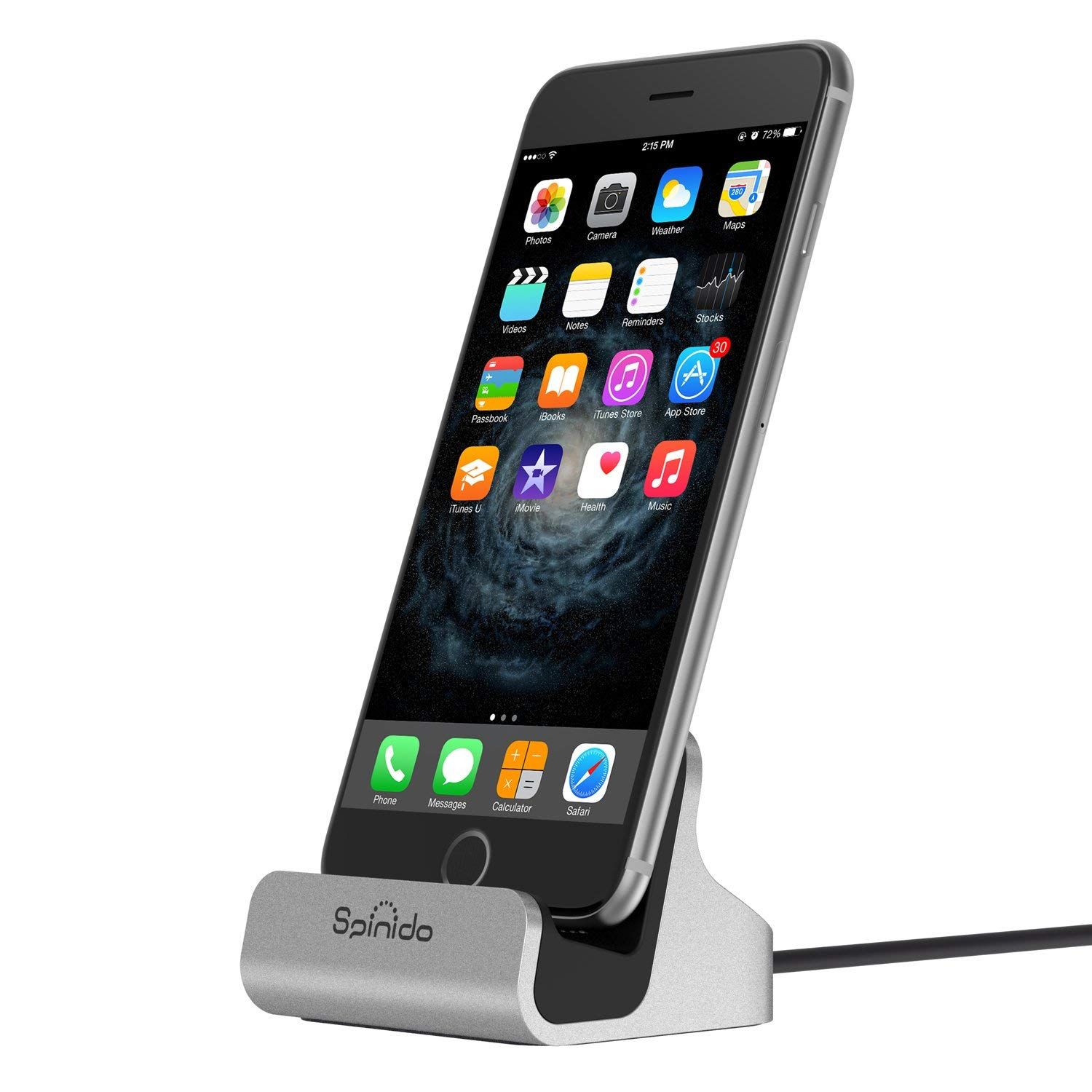 Spinido ChargeSync Charging Dock with Built-In Lightning Connector for iPhones