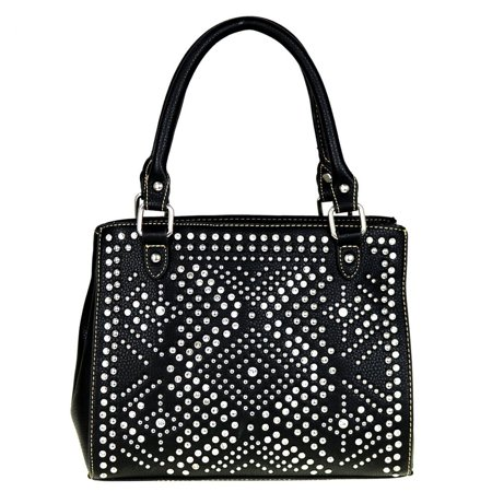 Montana West Satchel Crossbody Purse Bling Collection Crystal Tribal Black