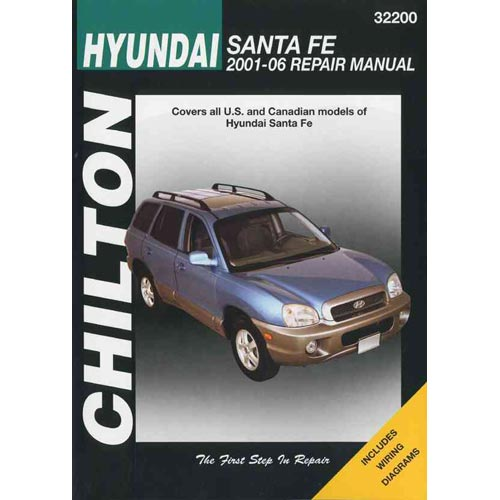 hyundai santa fe 2001 06 repair manual walmart com rh walmart com 2001 hyundai santa fe repair manual 2001 hyundai santa fe owners manual