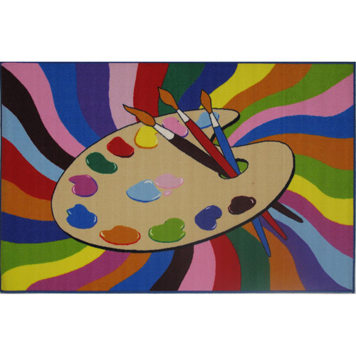 "Fun Rugs Painting Time Kids' Rug, Multi-Color, 3'3"" x 4'10"""