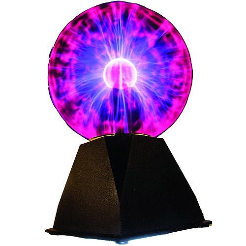 "7"" Plasma Ball, Lightning at your fingertip. Based on Physics . A classic novelty light, the electricity inside the plasma sphere will follow your finger tips. Product Size: 7x11.5x6"