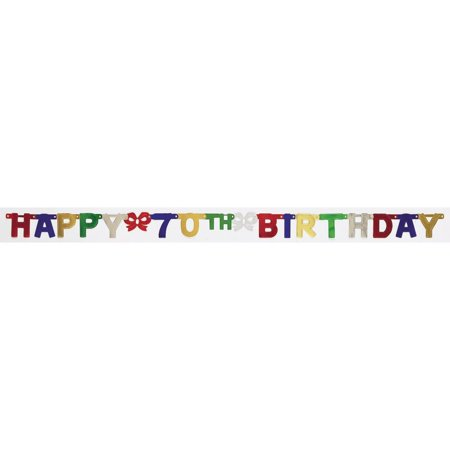 Creative Converting 70th Birthday Party Banner](70th Birthday Banner)