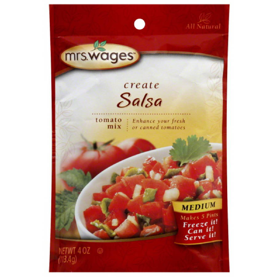 Mrs. Wages Create Salsa Tomato Mix, 4 oz, (Pack of 12)