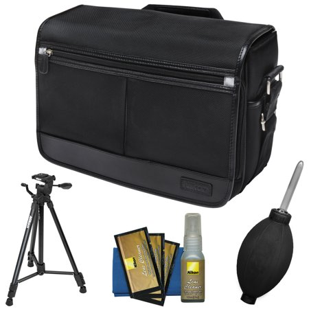 Special Offer Nikon DSLR Camera/Tablet Messenger Shoulder Bag with Nikon 60″ Tripod + Kit for D4s, Df, D810, D750, D610, D7200, D7100, D5500, D5300, D3300, D3200 Before Special Offer Ends