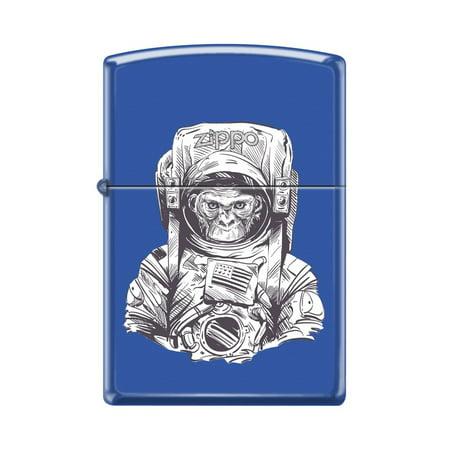 zippo custom design space chimp animal in astronaut suit windproof
