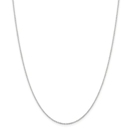 1.25mm, Sterling Silver Classic Solid Cable Chain Necklace British Classic Jewelry