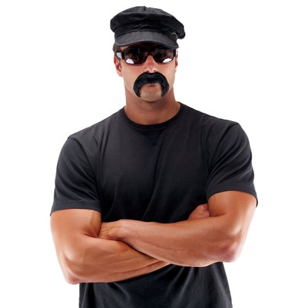 Morris Costumes Mens The Biker Black Mustaches And Goatees Set, Style PM531236