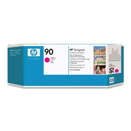 HP 90 Magenta DesignJet Printhead and Printhead Cleaner (C5056A) (Single Pack) Ink Cartridge