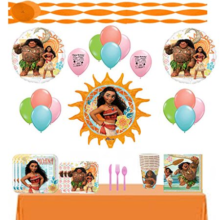 Disney Moana Party Supply and Balloon Decoration Kit (Disney Wedding Decorations)
