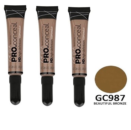 L.A. Girl Pro Conceal HD Concealer, Beautiful Bronze, 0.28 Ounce