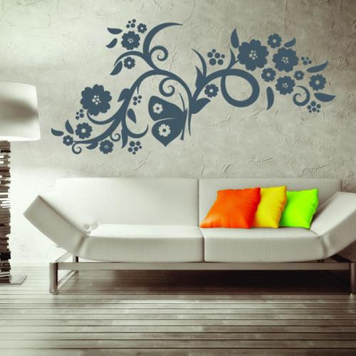Style and Apply Flower Flow Vinyl Mural Wall Decal