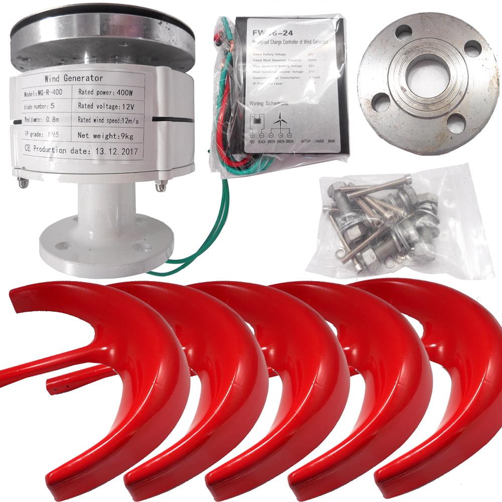 iMeshbean 12V 400W 5 Blades Lanterns Wind Turbine Generator Vertical Axis + Controller