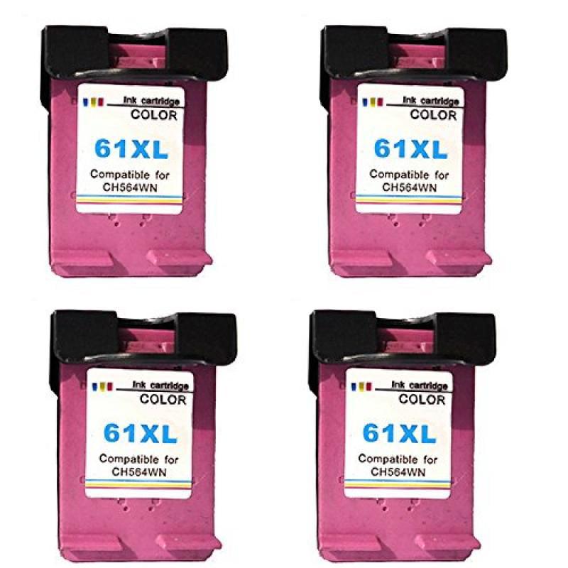 HOTCOLOR Color Ink Inkjet Cartridge 4 Pack (4 C) Replacem...