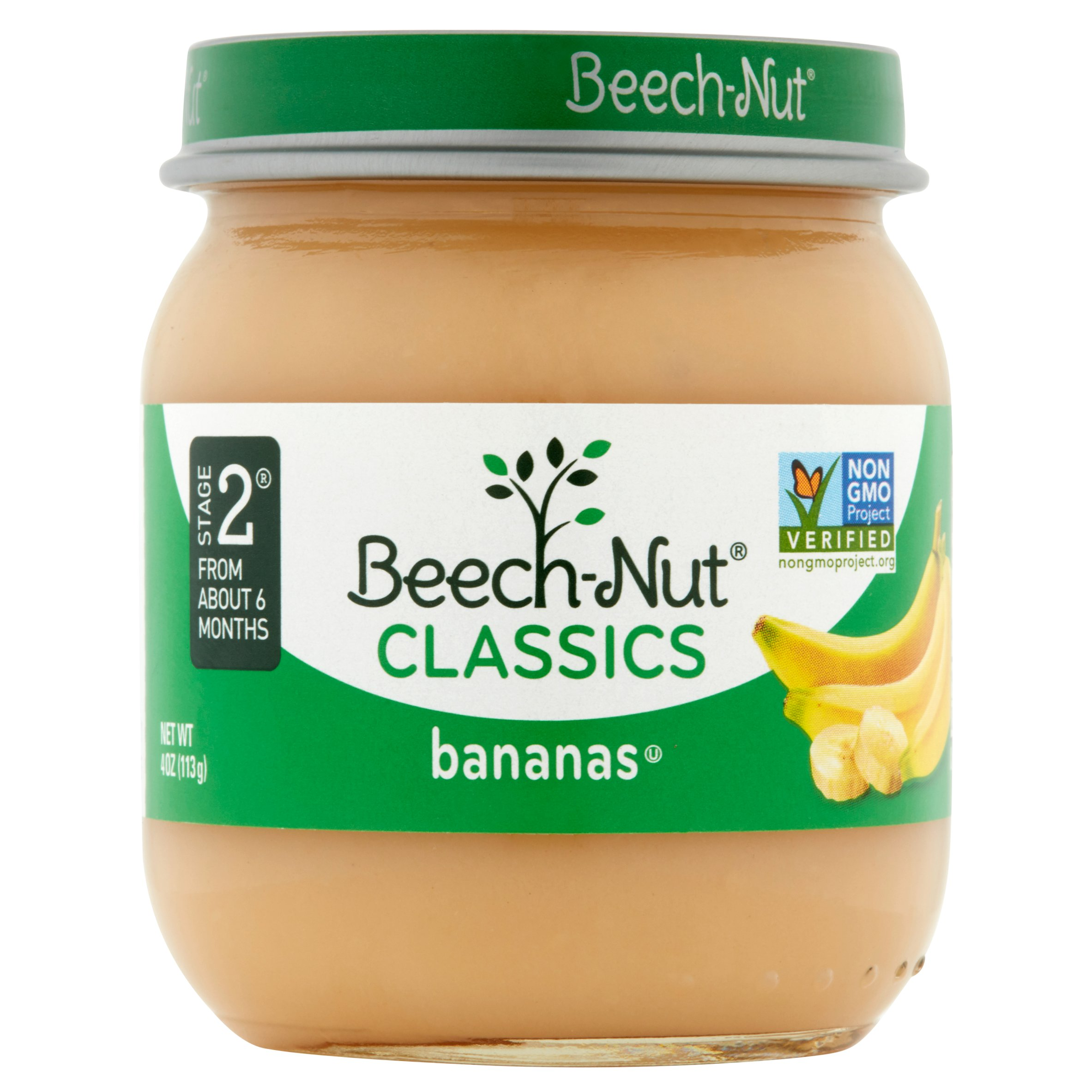 Beech-Nut Classics Stage 2 Chiquita Bananas Baby Food, 4 oz, (Pack of 10)