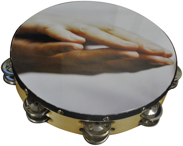 "Nippon 10"" Praying Hands Tambourine by Nippon"