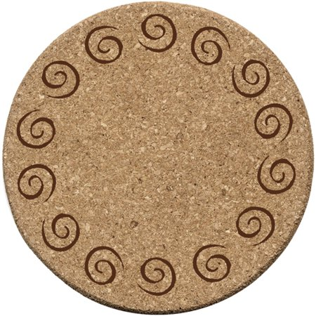 Thirstystone Cork Drink Coasters Set, Swirls S-6