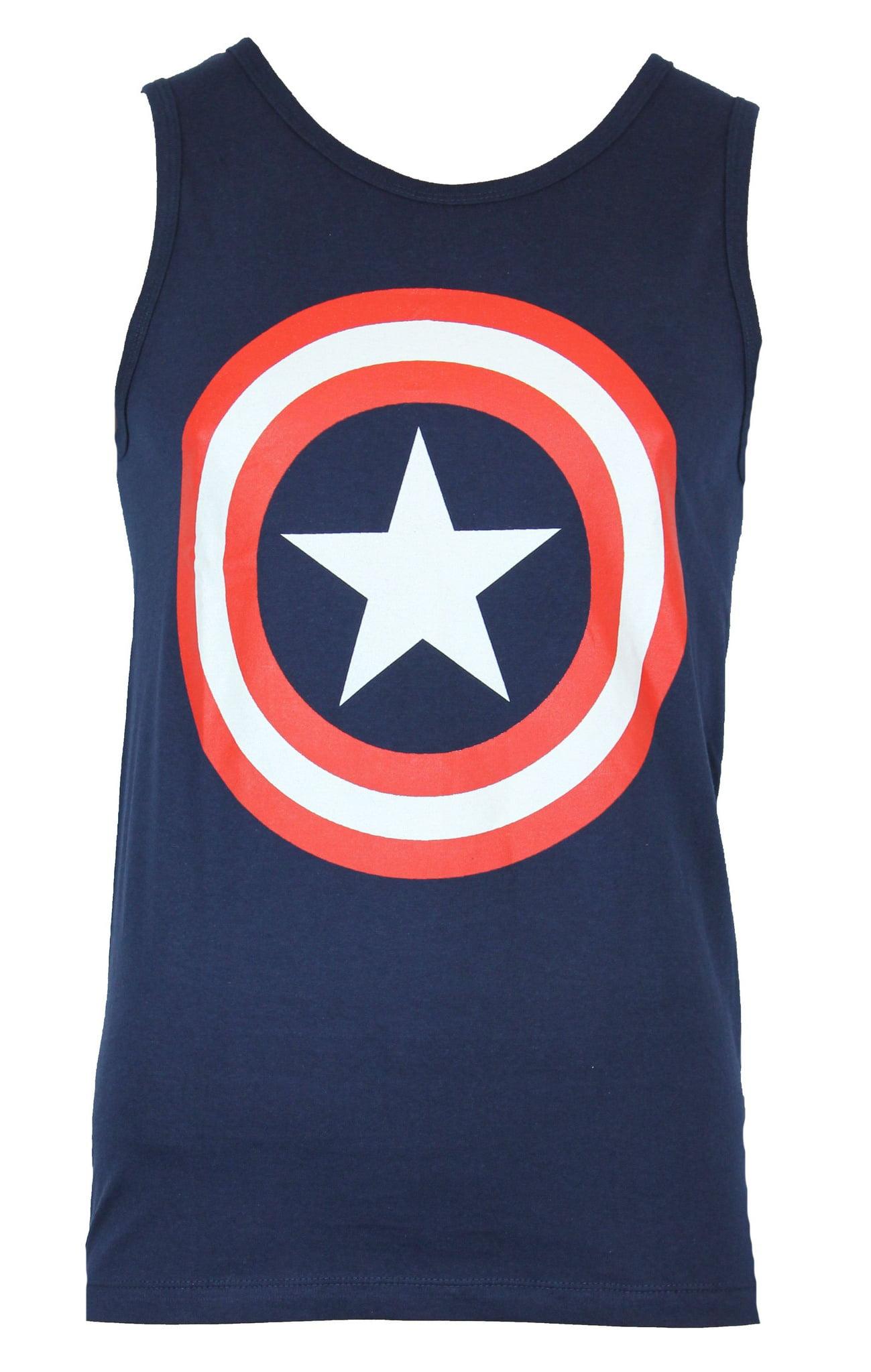 8bf7d4e47c3999 IN MY PARENTS BASEMENT - Captain America (Marvel Comics) Mens Tank Top -  Classic Shield Logo - Walmart.com
