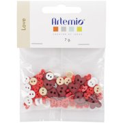 Artemio Mini Shaped Buttons-Love
