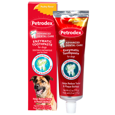 Petrodex Enzymatic Toothpaste for Dogs Poultry Flavor, 6.2 Ounces