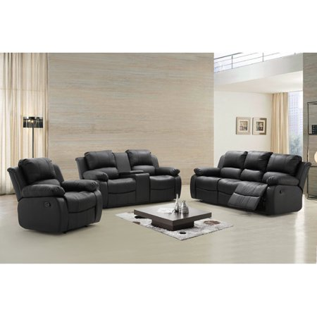living in style phoenix 3 piece reclining living room set walmart