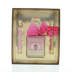 Juicy Couture Viva La Juicy Rose By Juicy Couture 3 Piece Gift Set-3.4 Oz Eau De Parfum Spray,0.33 Viva La Juicy Rose Oz