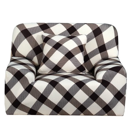 Household Polyester Grid Pattern Sofa Chair Cover