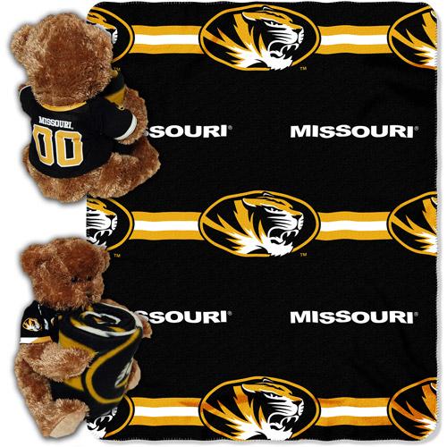 NCAA Missouri Tigers Mascot Bear Throw/Pillow Combo