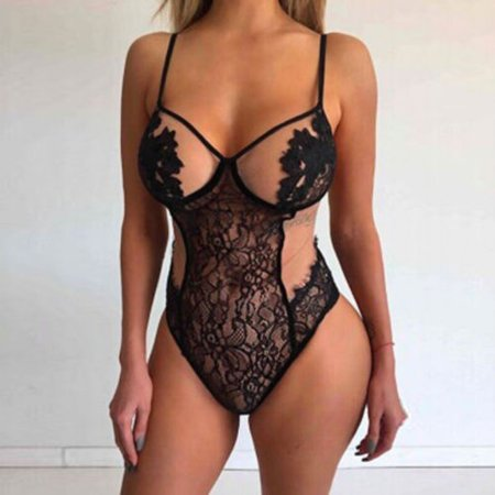 351b1edcef587e 2018 Hot fashion Sexy Lady Black Lace A Sling Skirt Lingerie Babydoll  G-String Thong Underwear - Walmart.com