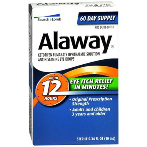 Bausch & Lomb Alaway Eye Itch Relief Drops 0.34 oz (Pack of 2)
