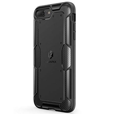 newest c2c57 b8eee iPhone 8 Plus Case, iPhone 7 Plus Case, Anker KARAPAX Shield Case [Support  Wireless Charging] [Thin Slim Fit] [Anti Scratch] Soft TPU with Carbon ...