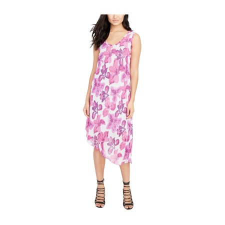 Rachel Roy Womens Floral Asymmetrical Dress creampink M - image 1 de 1
