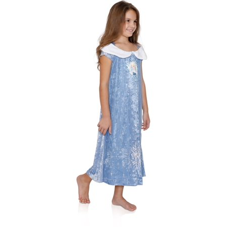 Disney Girls' Frozen Elsa Fantasy Nightgown, Winter Royalty, Size: 6
