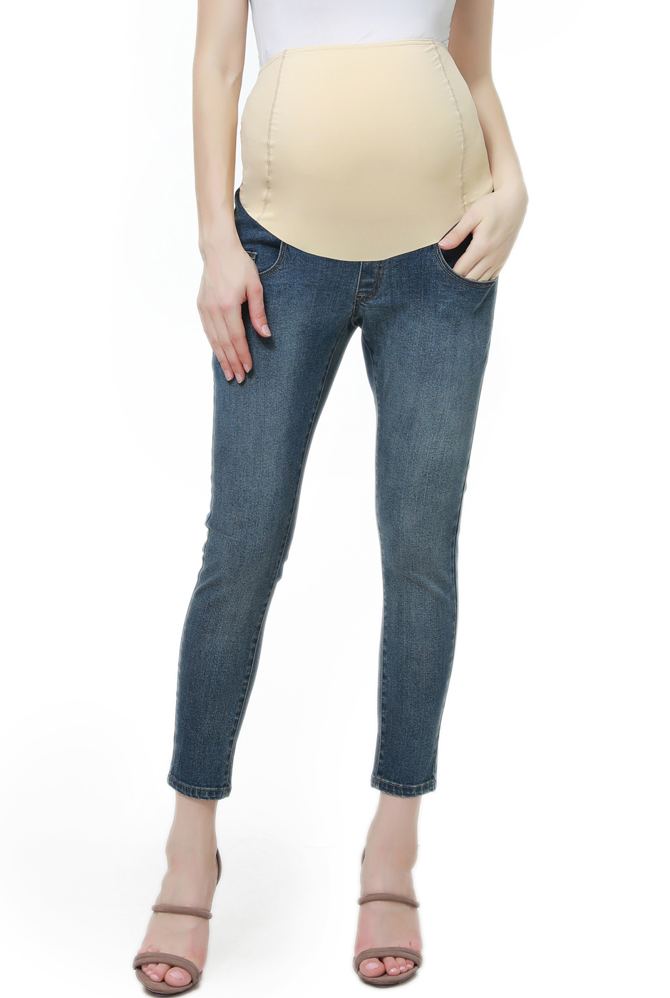 Maternity Women's Cropped Jeans - 28