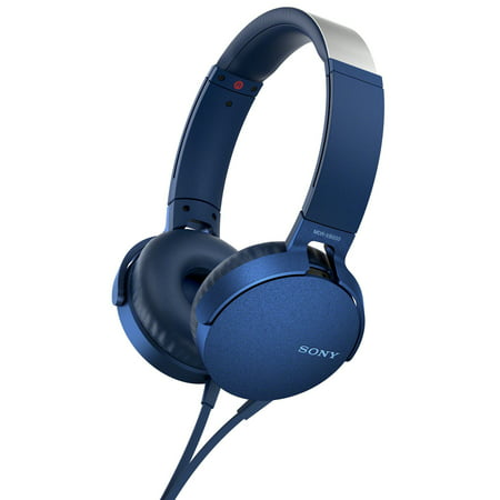 Sony XB550AP Extra Bass On-Ear Headphone (Blue) (Sony Mdrxb950bt B Extra Bass Bluetooth Headphones)