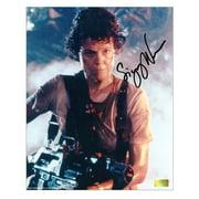 Sigourney Weaver Autographed 8x10 Aliens Battle Ready Photo