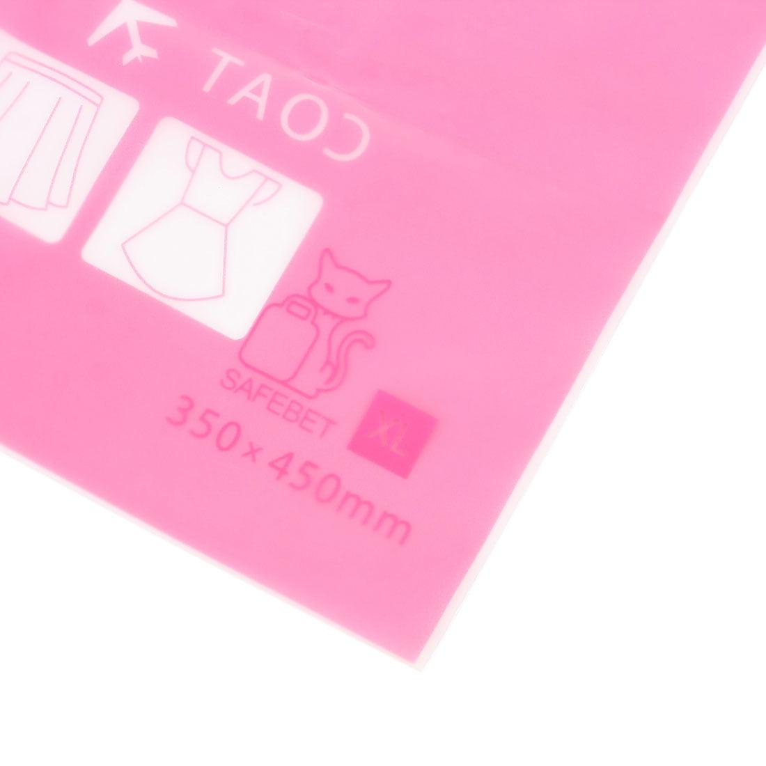Plastic Water Resistant Travel Clothes Underwear Storage Bag 28x40cm Fuchsia - image 2 de 8
