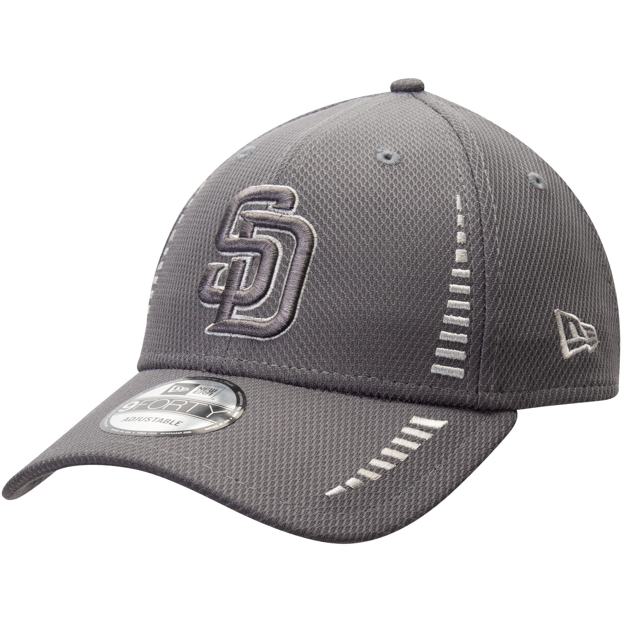 San Diego Padres New Era Speed Tech 9FORTY Adjustable Hat - Graphite - OSFA