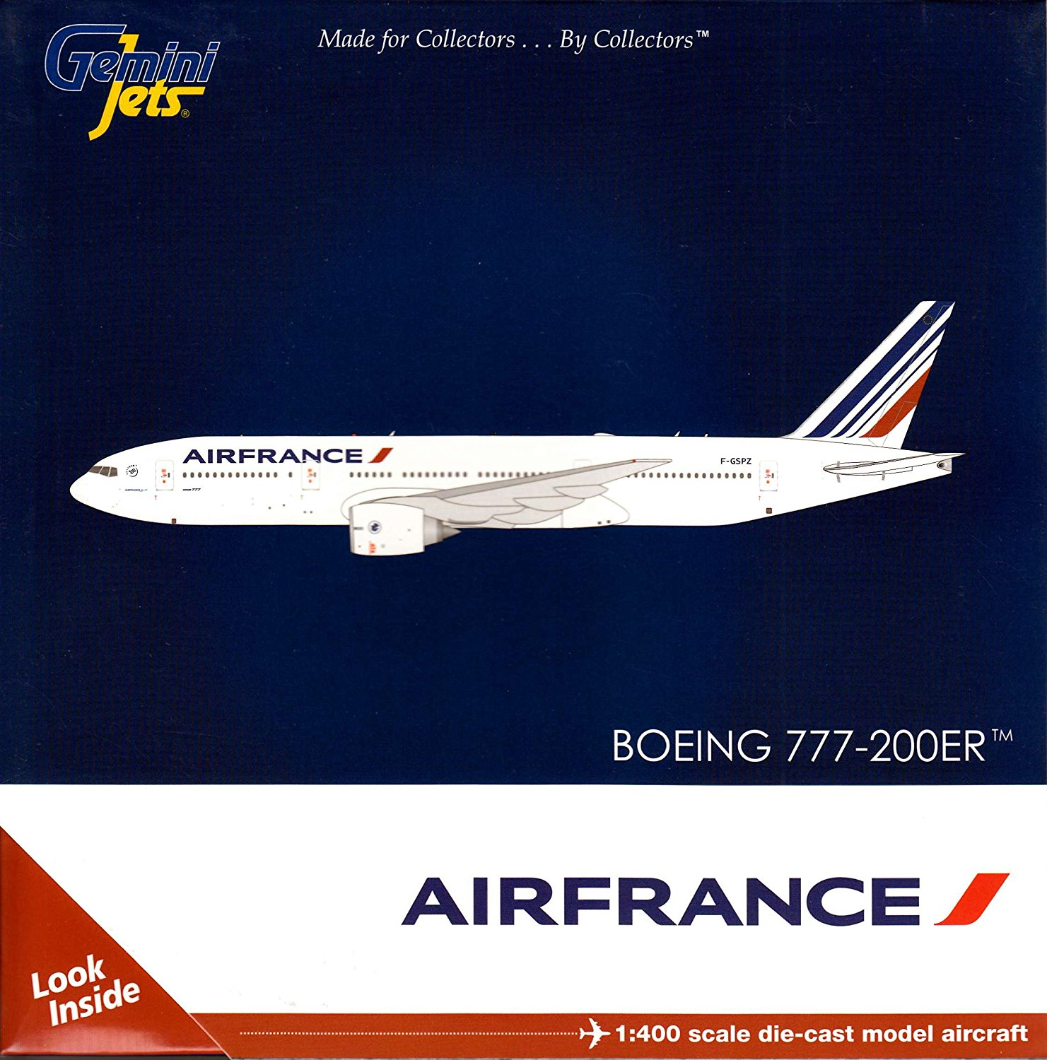Gemini Jets Air France B777-200ER F-GSPZ 1:400 Scale Diecast Model Airplane