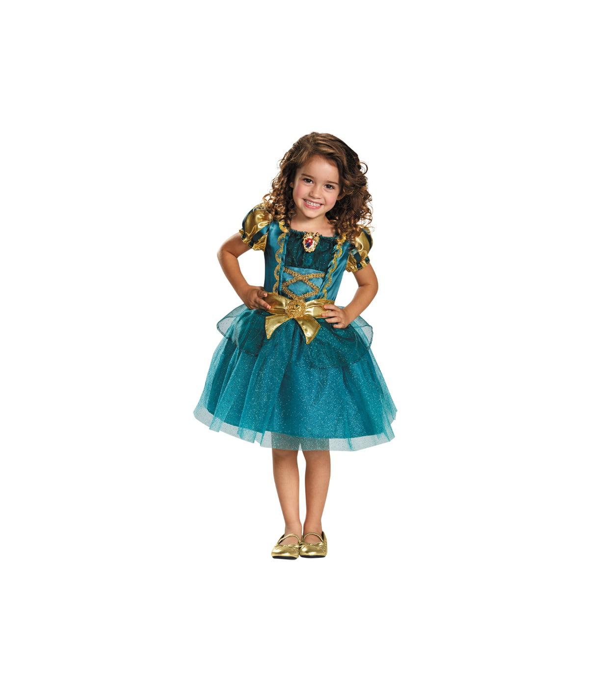80608f99f6f1 Disney s Brave Princess Merida Little Girls Costume - Walmart.com