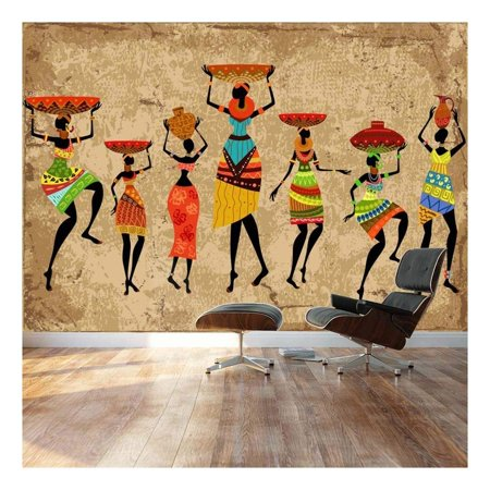 Decorating Wall Art - wall26 - Large Wall Mural - Abstract Art African Woman on Grunge Background | Self-Adhesive Vinyl Wallpaper/Removable Modern Decorating Wall Art - 100