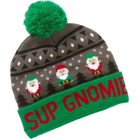 sup gnomie beanie hat iwth feather yarn walmart com