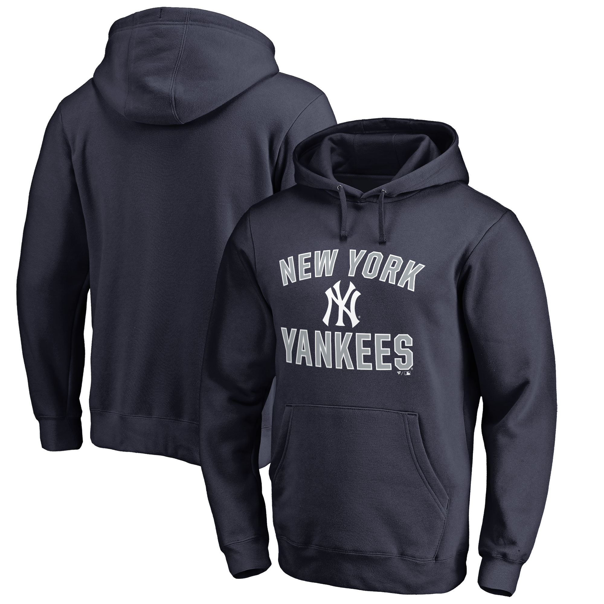 New York Yankees Victory Arch Big & Tall Pullover Hoodie - Navy