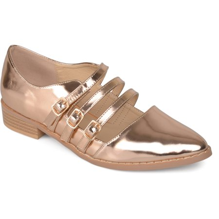 Womens Buckle Pointed Toe Patent Shoes - Colonial Shoe Buckles