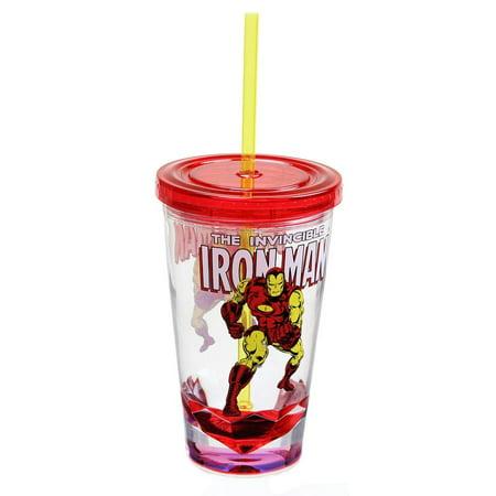 Marvel Retro Iron Man 19oz Carnival Cup - Iron Man Chest Plate