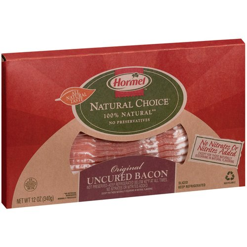 Hormel Natural Choice Original Uncured Bacon, 12 oz