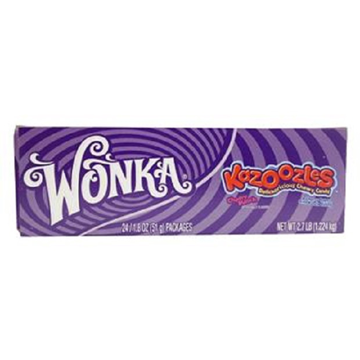 Wonka Kazoozles Rope Cherry Punch 24 pack (1.8 oz per pack)
