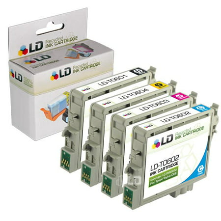 Epson Remanufactured C88, CX4200, CX4800, and CX7800 Set of 4 Ink Cartridges: 1 Black T060120 & 1 of each Cyan T060220/Magenta T060320/Yellow - T060420 Set