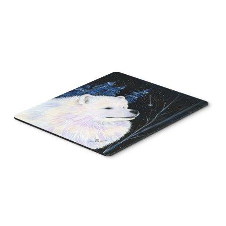 Starry Night Samoyed Mouse Pad / Hot Pad / Trivet
